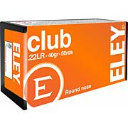 ELEY AMMO CLUB .22LR 40GR. ROUND NOSE 50-PACK
