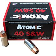 ATOMIC AMMO .40SW 155GR. BONDED JHP 20-PACK