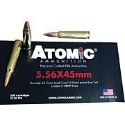 ATOMIC AMMO 5.56X45 500 ROUNDS 62GR. HORNADY FMJ  BULK-PACK