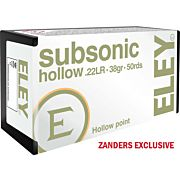 ELEY AMMO SUBSONIC .22LR 38GR. HOLLOW POINT 50-PACK
