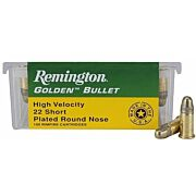 REM AMMO .22 SHORT 100-PACK HIGH VELOCITY 29GR. PLATED LRN