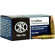 FN AMMO 5.7X28MM LEAD FREE SS195LF 27GR. JHP 50-PACK