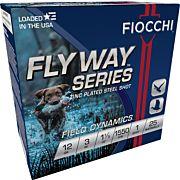 "FIOCCHI FLYWAY STEEL 12GA. 3"" 1550FPS. 1-1/5OZ. #1 25-PACK"