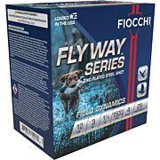 "FIOCCHI FLYWAY STEEL 12GA. 3"" 1500FPS. 1-1/8OZ. #4 25-PACK"