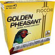 "FIOCCHI GOLDEN PHEASANT 12GA. 2.75"" 1250FPS, 1-3/8 #4 25-PK"