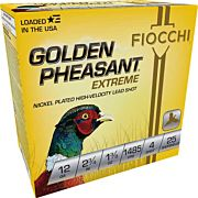 "FIOCCHI GOLDEN PHEASANT 12GA. 2.75"" 1485FPS, 1-3/8 #4 25-PK"