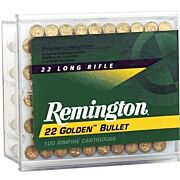 REM AMMO .22 LONG RIFLE 100-PK HIGH VELOCITY 40GR. PLATED LRN
