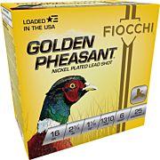 "FIOCCHI GOLDEN PHEASANT 16GA. 2.75"" 1310FPS, 1-1/8 #6 25-PK"