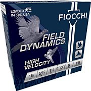 "FIOCCHI 16GA. 2.75"" 1300FPS. 1-1/8OZ. #6 25-PACK"