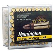 REM AMMO .22 LONG RIFLE 100-PK YELLOW JACKET 33GR. TC LEAD-HP