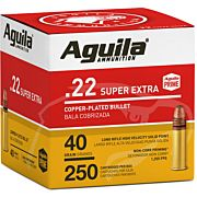 AGUILA AMMO .22LR HIGH VEL. 1255FPS. 40GR. PLATED LRN 250P
