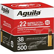 AGUILA AMMO .22LR HIGH VEL. 1280FPS. 38GR. PLATED HP 500PK