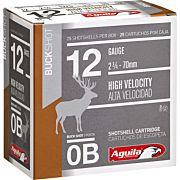 AGUILA SHOTSHELL 12GA. 0BK. 25-PACK