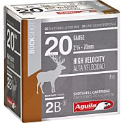 AGUILA SHOTSHELL 20GA. 2BUCK 25-PACK