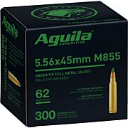 AGUILA AMMO 5.56X45MM 62GR. GREEN TIP 300-PACK