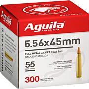 AGUILA AMMO 5.56X45MM 55GR. FMJ 300-PACK