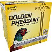"FIOCCHI GOLDEN PHEASANT 20GA. 3"" 1200FPS. 1-1/4OZ. #5 25-PK"