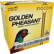 "FIOCCHI GOLDEN PHEASANT 20GA. 3"" 1200FPS. 1-1/4OZ. #6 25-PK"