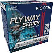 "FIOCCHI FLYWAY STEEL 20GA. 3"" 1500FPS. 7/8OZ. #2 25-pack"