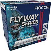"FIOCCHI FLYWAY STEEL 20GA. 3"" 1500FPS. 7/8OZ. #4 25-pack"