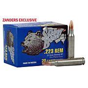 SILVER BEAR .223 REMINGTON 55GR. HP ZINC PLATED 20-PACK