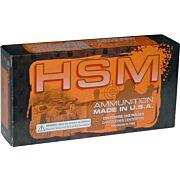 HSM AMMO RMFG .223 52GR. HORNADY HPBT MATCH 50-PACK
