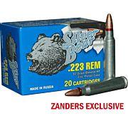 SILVER BEAR .223 REMINGTON 62GR HP ZINC PLATED 20-PACK