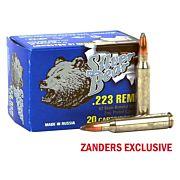 SILVER BEAR .223 REMINGTON 62GR. SP ZINC PLATED 20-PACK