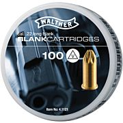 WALTHER BLANKS .22 LONG 1000PK NOISE ONLY BLANKS 10-100PKS !