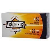 ARMSCOR AMMO .22TCM 40GR. JHP 50-PACK