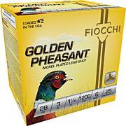 "FIOCCHI GOLDEN PHEASANT 28GA. 3"" 1200FPS. 1-1/16OZ. #6 25-PK"