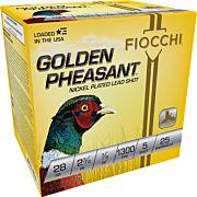 "FIOCCHI GOLDEN PHEASANT 28GA. 2.75"" 1300FPS. 7/8OZ. #5 25-PK"
