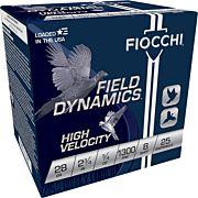 "FIOCCHI 28GA. 2.75"" 1300FPS. 3/4OZ. #8 25-PACK"