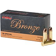 PMC AMMO .38 SPECIAL 132GR. FMJ-RN 50-PACK
