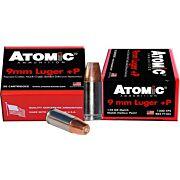 ATOMIC AMMO 9MM LUGER +P 124GR. BONDED JHP 20-PACK