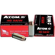 ATOMIC AMMO .40SW 180GR. BONDED JHP 20-PACK