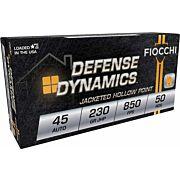 FIOCCHI AMMO .45ACP 230GR. JHP 50-BULK PACK