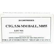 ARMSCOR AMMO .223 REMINGTON 62GR. FMJ (M855) 20-PACK
