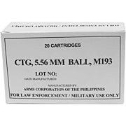 ARMSCOR AMMO .223 REMINGTON 55GR. FMJ (M193) 20-PACK