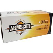 ARMSCOR AMMO .380ACP 95GR. FMJ VALUE PACK 100 ROUND PACK