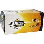 ARMSCOR AMMO .45ACP 230GR. FMJ VALUE PACK 100 ROUND PACK