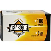 ARMSCOR AMMO 9MM LUGER 124GR. FMJ VALUE PACK 100 ROUND PACK