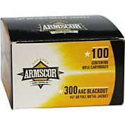 ARMSCOR AMMO .300AAC 147GR. FMJ VALUE PACK 100 ROUND PACK