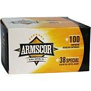 ARMSCOR AMMO .38SPL. 158GR. FMJ VALUE PACK 100 ROUND PACK