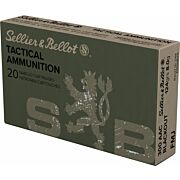 S&B AMMO .300AAC BLACKOUT 124GR. FMJ 20-PACK