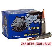 SILVER BEAR 5.45X39 60GR. FMJ 750 ROUND CASE