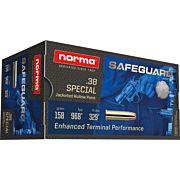 NORMA AMMO .38SPL SAFEGUARD 158GR. JHP 50-PACK