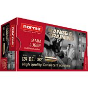 NORMA AMMO 9MM LUGER 124GR. FMJ 50-PACK
