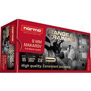 NORMA AMMO 9MM MAKAROV 95GR. FMJ 50-PACK