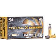 FED AMMO GOLD MEDAL .22LR 1080FPS. 40GR. LEAD-RN 50PK